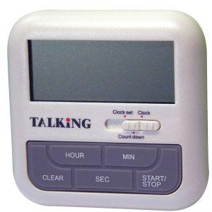 Chronomètre, compteur à rebours et horloge parlant