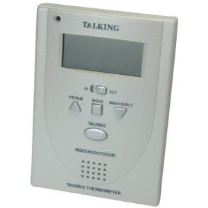 Thermomètre d'ambiance parlant intérieur et extérieur